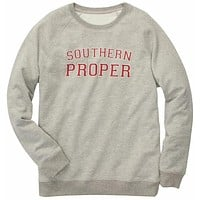 Original Sweatshirt in Grey by Southern Proper