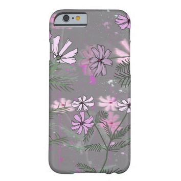 lovely pink flower pattern barely there iPhone 6 case
