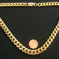 Heavy 96.8g Well Made Goldtone Classic Miami Cuban Curb Link Chain Hip Hop Necklace Minimalist Simple Yet Stylish UNISEX Jewelry 4 Men&Women