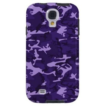 Purple Camouflage Samsung Galaxy S4 Cover