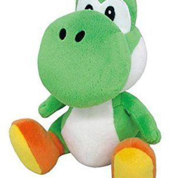 """Little Buddy Super Mario All Star Collection Green Yoshi 8"""" Plush USA Authentic"""