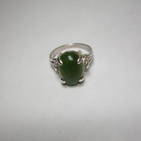 Jade Ring Size 7 925 Silver