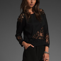 PATTERSON J. KINCAID Hawthorne Lace Top in Black/Black at Revolve Clothing - Free Shipping!
