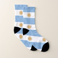 All Over Print Socks with Flag of Argentina