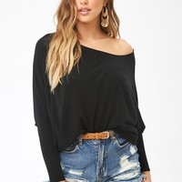 Billowy Batwing-Sleeve Top