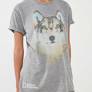 National Geographic Wolf Tee | Urban Outfitters