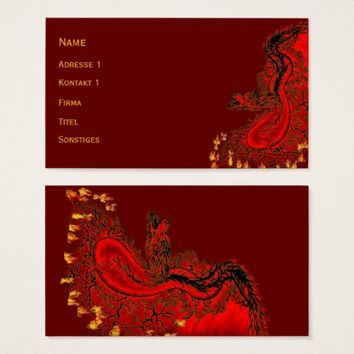 China Dragon red and gold design Business Card