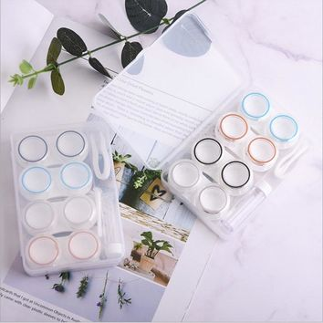 13cce00bffb 4Pairs Contact Lens Case Candy Colored Many Styles Eye Contact Lens Box  Travel Contact Lenses Case