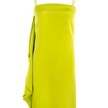 Christian Siriano Lime Side Flounce Cocktail Dress 2