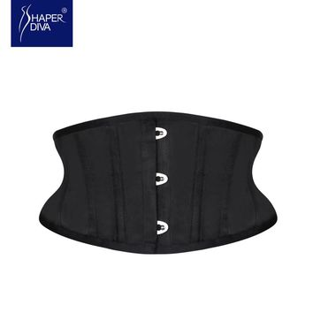 Shaper diva Sexy Women Slimming Corsets Waist Trainer Shaper Belt Short Torso Satin Underbust Corset Lace Up Corsets & Bustiers