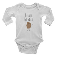 """""""Little Nugget"""" Long Sleeve Onesuit"""