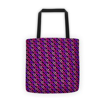 Tri Color Dark Pink/Purple/Red Tote bag