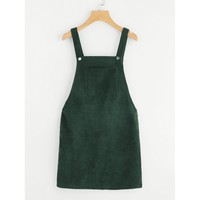 Camouflage Overall Dress - Green
