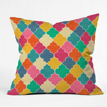 Jacqueline Maldonado Morocco Bright Outdoor Throw Pillow