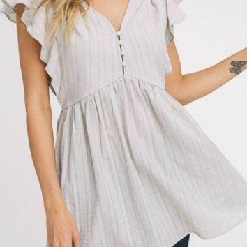 Emily Sage Flutter Sleeve Tunic