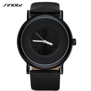 Waterproof Leather Men Watch Sports