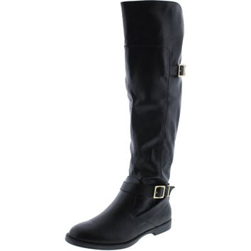 Bella Vita Womens Romy II Faux Leather Over The Knee Riding Boots