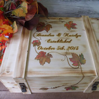 Rustic Wine Box for Fall Weddings