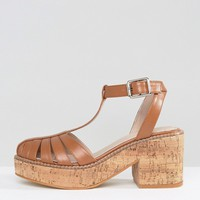 ASOS OASIS Cork Platform Shoes at asos.com