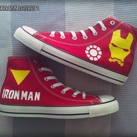 Iron Man Custom Converse / Painted Shoes / Marvel