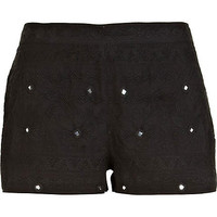 Black mirror embellished casual shorts - shorts - sale - women