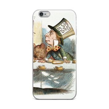 Alice in Wonderland Tea Party Mad Hatter iPhone Case