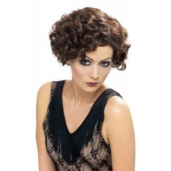 20s Flapper Flirty Wig Costume Adult Halloween