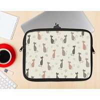 The Vintage Solid Cat Shadows Ink-Fuzed NeoPrene MacBook Laptop Sleeve