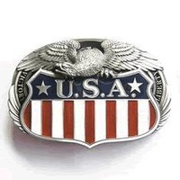 USA Victory Liberty Eagle Belt Buckle