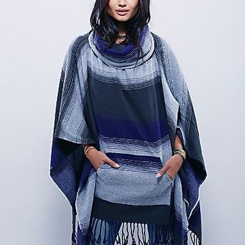 Free People Womens Desert Dream Cowl Poncho