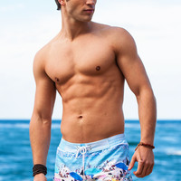 Sauvage Swimwear Key West Retro Lycra Swimmer | Sauvage Mens Designer Swimwear