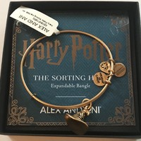 Alex and Ani Harry Potter Sorting Hat Charm Bangle Gold Finish New