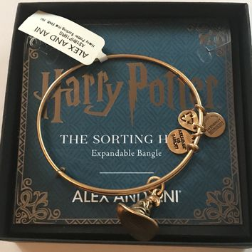 Alex Ani Harry Potter Sorting Hat Charm Bangle Gold Finish New