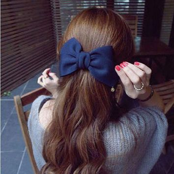 DCCKLW8 2016 Korean Style Hair Ornaments Flower Hair Clip Fashion Cute Hairpins Gig Bow Hair Clip For Women Hair Accessories