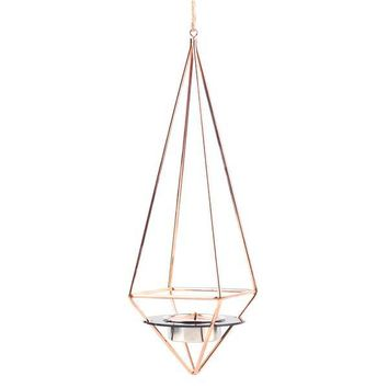 Rose Gold Hanging Tea Candle Holder