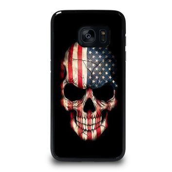 AMERICAN FLAG SKULL Samsung Galaxy S7 Edge Case Cover