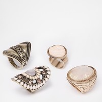 New Look Sandy Iridescent Ring Multipack