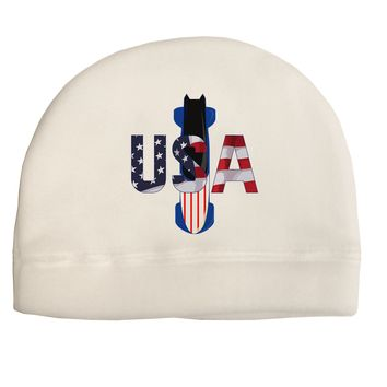 USA Bobsled Adult Fleece Beanie Cap Hat by TooLoud
