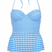 Blue Gingham Swimsuit