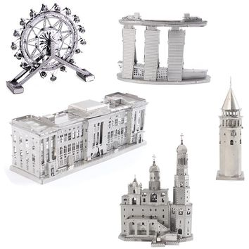 3D metal puzzle variety of laser cutting adult models puzzle metal building puzzle collection educational toys variety of DIY