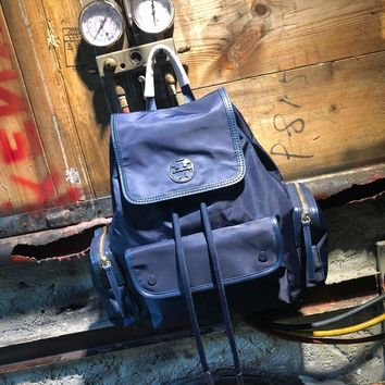 HCXX 19June 604 Tory Burch TB Military backpack 29-35-14 blue