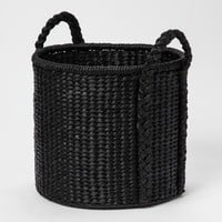 Round Woven Basket - Black - Threshold™