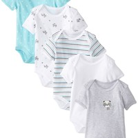 Rene Rofe Baby Baby-Boys Newborn Raccoon 5 Pack Lap Shoulder Bodysuits