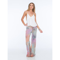 Electric Tie Dye Lace Up Flare Pant in Impression Tie Dye