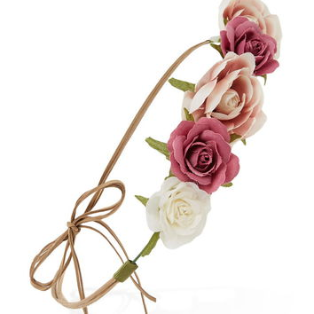 Strappy Flower Crown Headwrap | Forever 21 - 1000222159