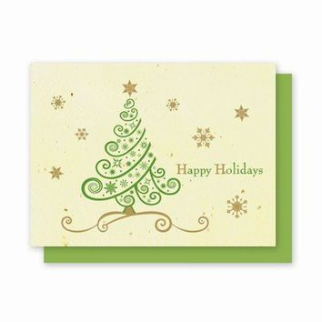 Tree Swirl Plantable Greeting Cards - 5 Pack