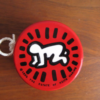 Keith Haring Radiant Child 1992 Wooden Yo-Yo