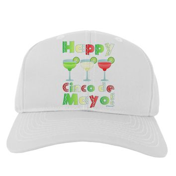 Margaritas - Mexican Flag Colors - Happy Cinco de Mayo Adult Baseball Cap Hat by TooLoud