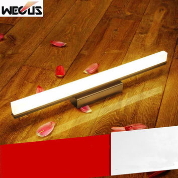(Wecus) 390mm bathroom led mirror light waterproof washing room wall lamp bedroom vanity mirror lamps 85-265V 9W
