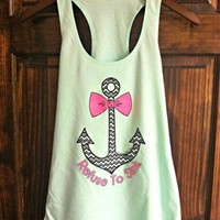Refuse To Sink Tank in Mint by Southern Fried Chics